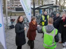 Aftrap verkiezingscampagne fietsstad Veenendaal met valentijnsverrassing