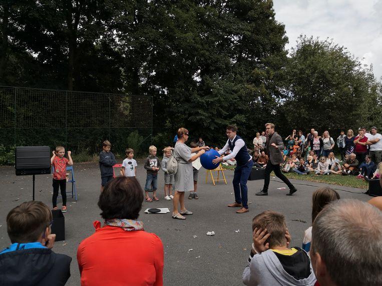Piet Kusters en Stefan Paridaen verbaasden het publiek.