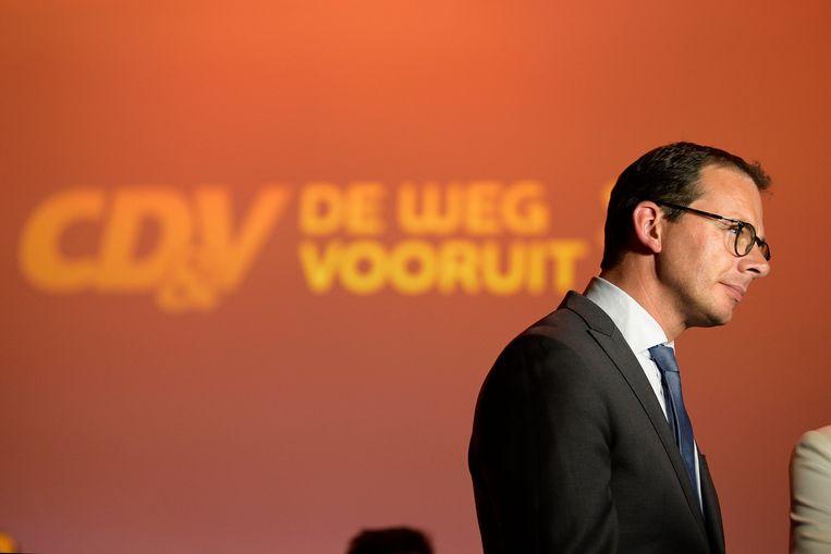 Voorzitter Wouter Beke en topkandidate Hilde Crevits konden CD&V niet boven water houden op 26 mei.