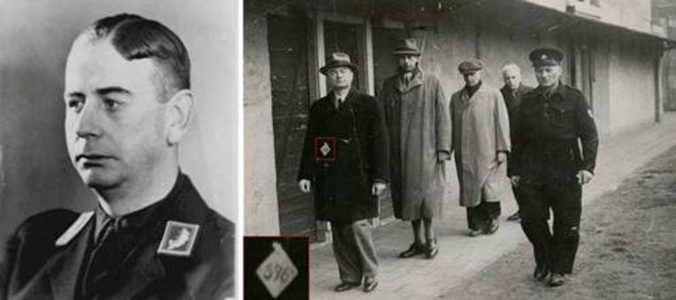 De Blocq van Scheltinga, links in uniform en rechts bij de gevangenis in Scheveningen. Beeld Tu Delft