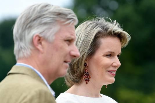 Koning Filip en Mathilde.