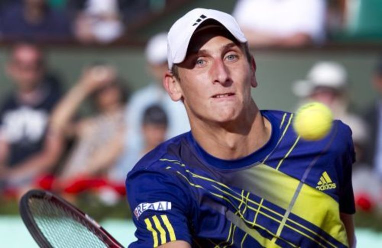 Thiemo de Bakker tijdens een wedstrijd op Roland Garros. ANP Beeld