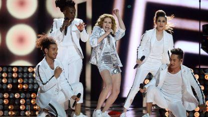 Laura Tesoro, Tom Dice, Lady Linn, Bob Savenberg en Wouter Vander Veken in Belgische jury Eurovisiesongfestival