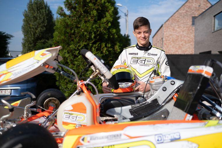 Yani Stevenheydens is gepassioneerd door karting.
