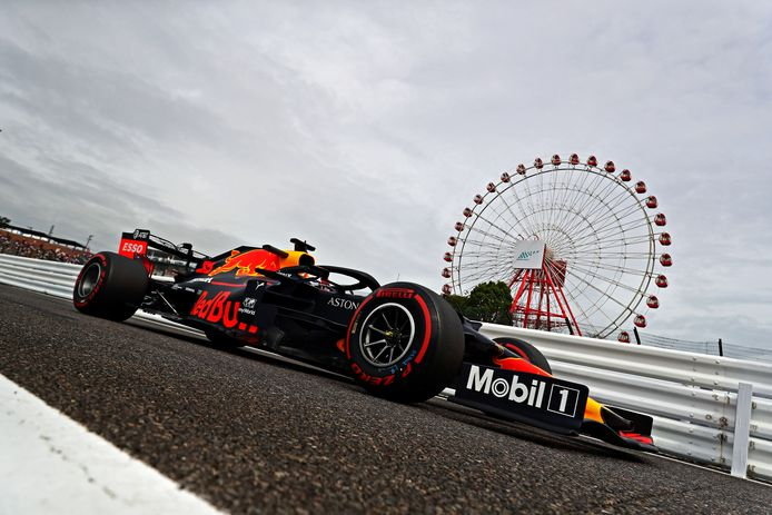 Max Verstappen kwam in de eerste training op het circuit van Suzuka tot de vijfde tijd.