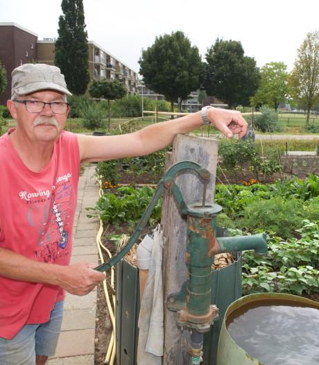 De waterpomp is redding van Elster volkstuintjes