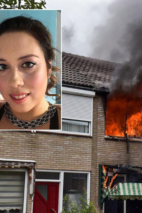 Tilburgse Jaqueline ziet woning uitbranden terwijl zoon boven slaapt: 'Ik verloor ooit mijn vader bij een brand, dit niet nog een keer'
