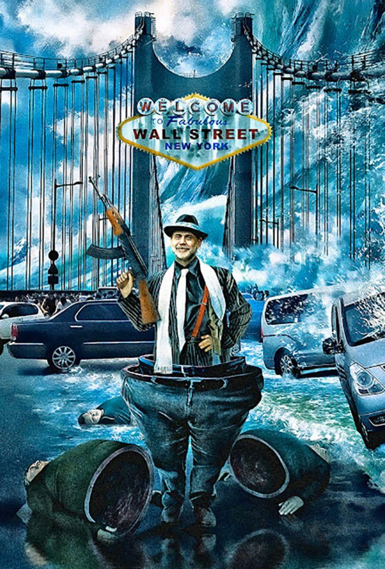 Bernanke - Kwaaitaal: 'Don Corleone Bernanke van Mark Rain aka AZRainman. Ook wel Photoshop satire. Hier zie je het bewijs dat gebruikers van Photoshop zich niet alleen maar bezighouden met het mooier maken van onze wereld. Vernuftige, geestige fotocollage technieken mét boodschap. Beeld .
