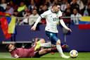 Lionel Messi in actie tegen Venezuela.