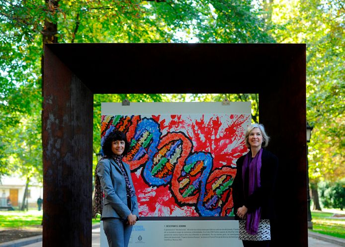 Emmanuelle Charpentier et Jennifer Doudna, en 2015