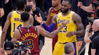 VIDEO. Blij weerzien voor LeBron James met oude ploegmaats