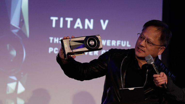 Nvidia-topman Jensen Huang Beeld null