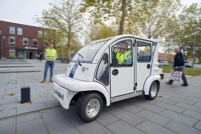 De MuzeMobiel bij wijkcentrum MuzeRijk in Uden. De karretjes rijden zeker nog tot eind 2023 in de wijk rond.