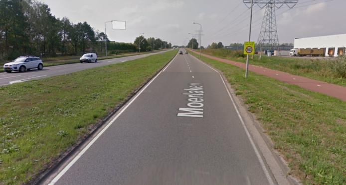 Op de weg Moerlaken is 50 toegestaan