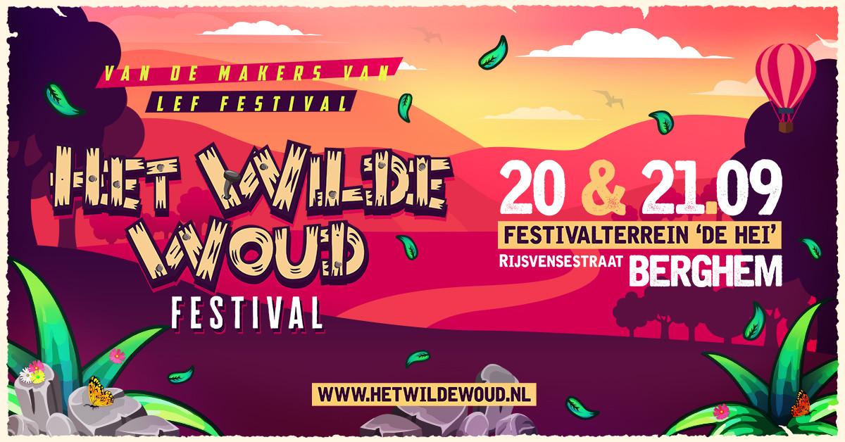 Aankondiging voor het festival Het Wilde Woud