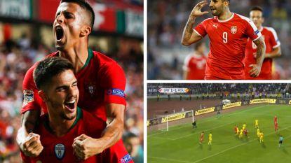 VIDEO. Portugal start Nations League met thuiszege in topper tegen Italië, ex-spitsen van Anderlecht goed bij schot op andere Europese velden