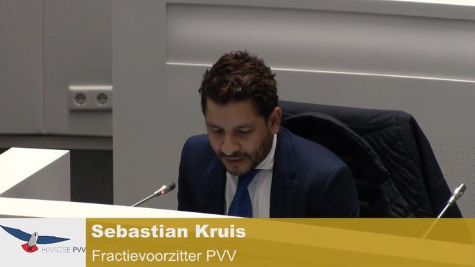 Fractievoorzitter Sebastian Kruis van de PVV