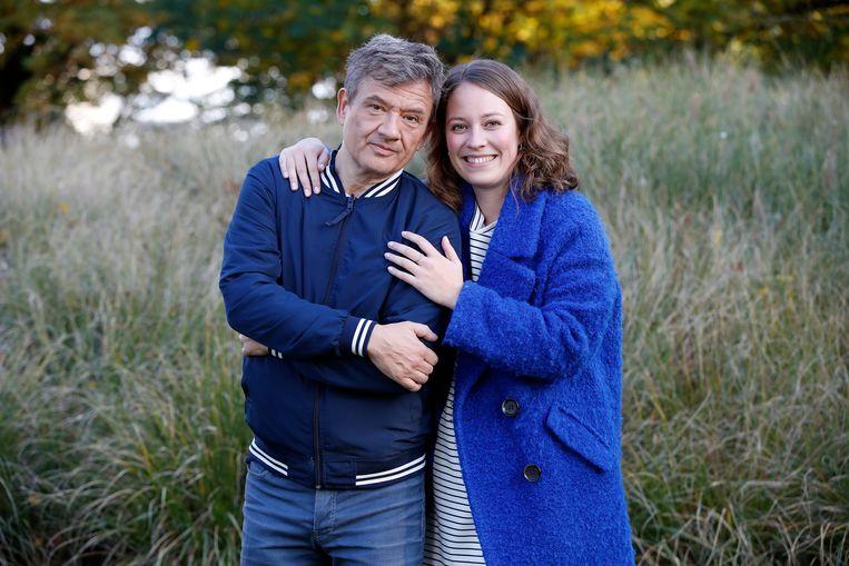 Bart Peeters met zijn dochter Winnie