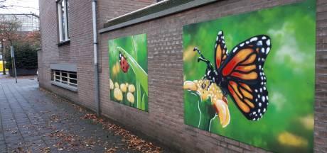 Jongeren verfraaien Almelose Cityflat met graffitikunst