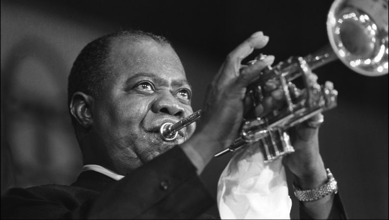 Louis Armstrong, 1965. Beeld afp
