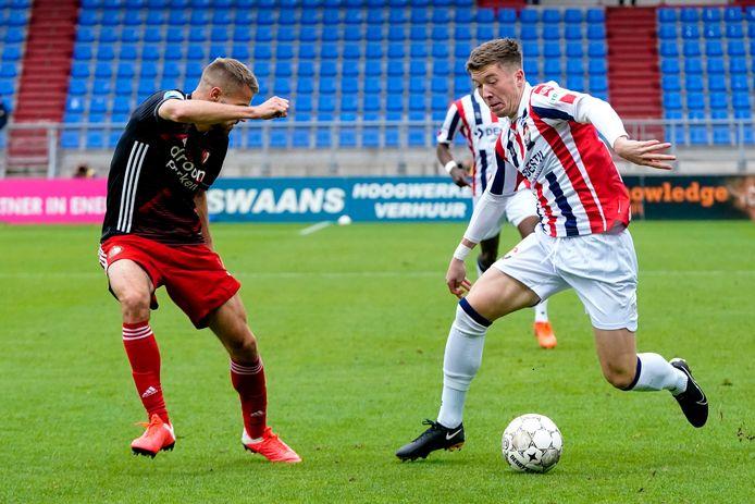 Ole Romeny maakte zondag zijn debuut tegen Feyenoord (1-4 verlies)