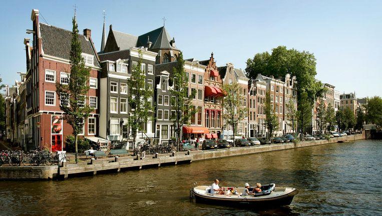 Panden aan de Keizersgracht in Amsterdam. Beeld anp