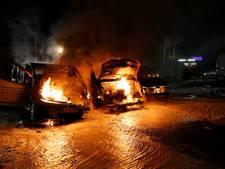 Drie bestelbusjes uitgebrand in Eindhoven