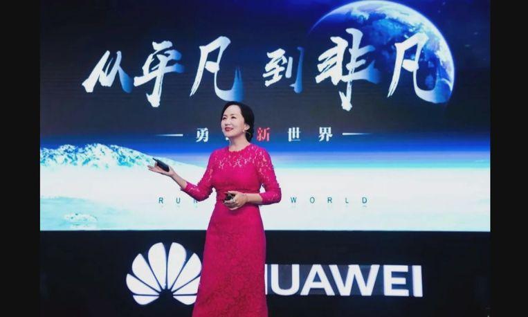 Cfo van Huawei Meng Wanzhou. Beeld