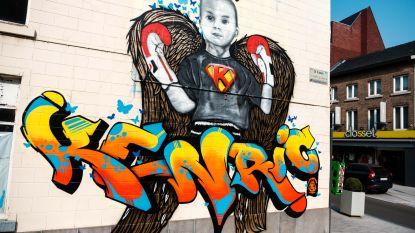 De strijd tegen kanker moest hij opgeven, maar Kenric (5) is niet vergeten: prachtige muurschildering eert prachtige jongen