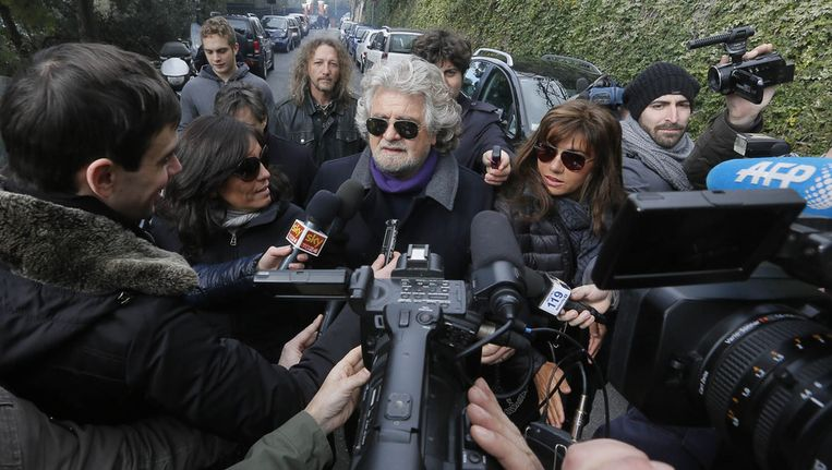Beppe Grillo. Beeld null