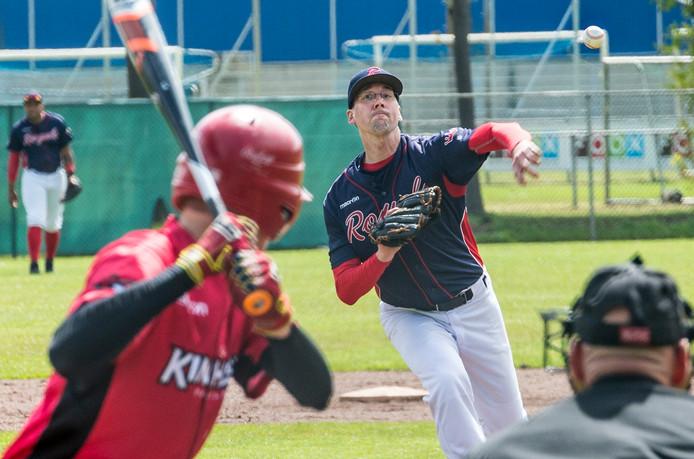 Pitcher Bart Derks van de Ven van Royals, eerder dit seizoen.