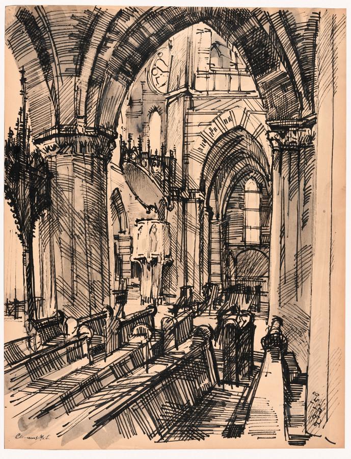 Interieur Barbarakathedraal, 1958
