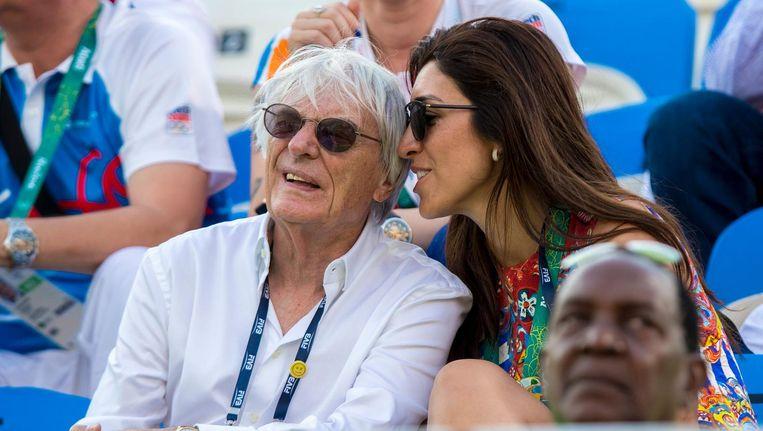 Bernie Ecclestone met zijn vrouw Ivy Bamford. Beeld epa