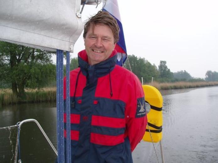 Kees Joosse, op het water. Foto: eigen foto, via Twitter