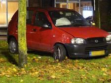 Auto vliegt uit de bocht en knalt tegen boom in Almelo
