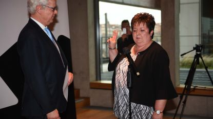 Karin Derua legt eed af als nieuwe burgemeester