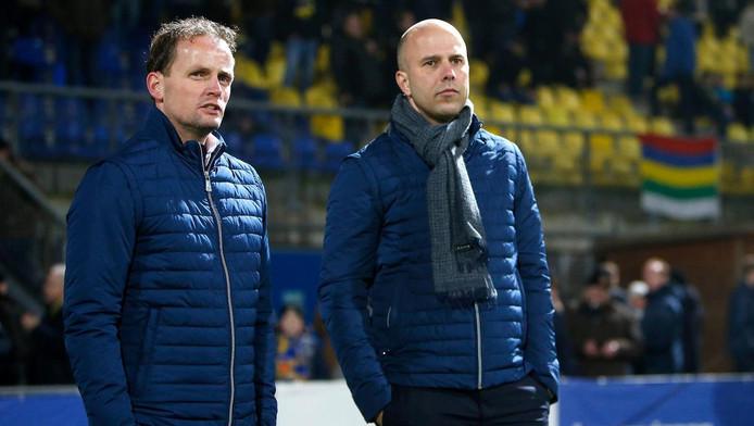 Sipke Hulshoff (l) en Arne Slot trekken de komende periode de kar bij Cambuur.