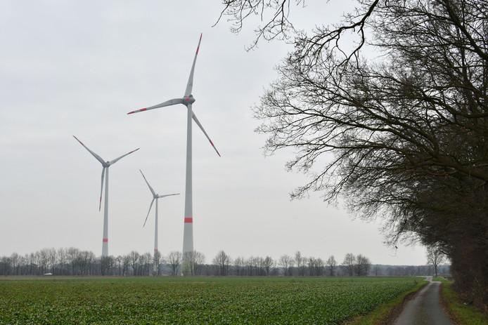 Windmolens net over de grens in Gildehaus