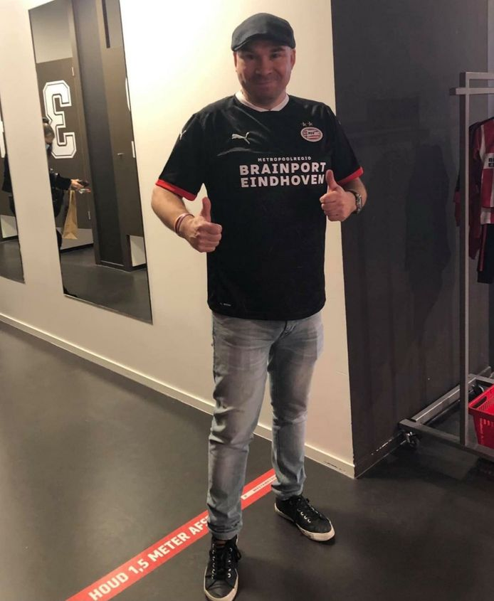 Eric Provaas, PSV-supporter uit Horst.