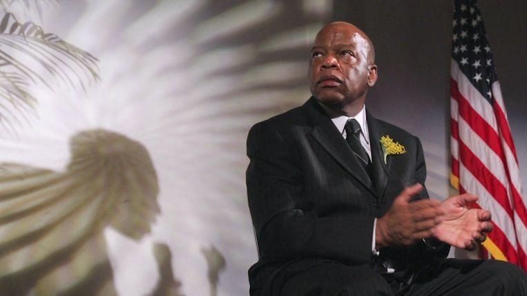 John Robert Lewis, icoon van de zwarte burgerrechtenbeweging. Beeld Videostill