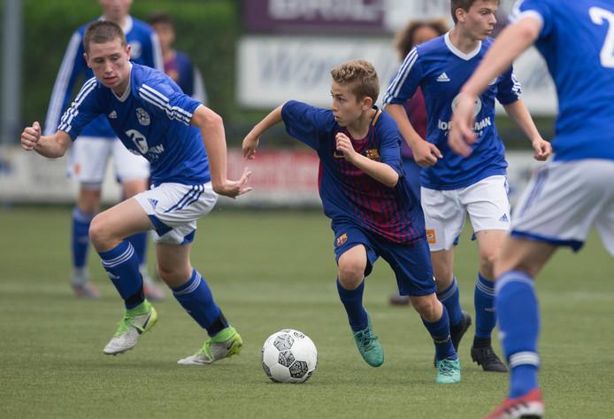 Barcelona, hier in actie tegen Grol in 2018, gaat na twee pouleduels aan de leiding.