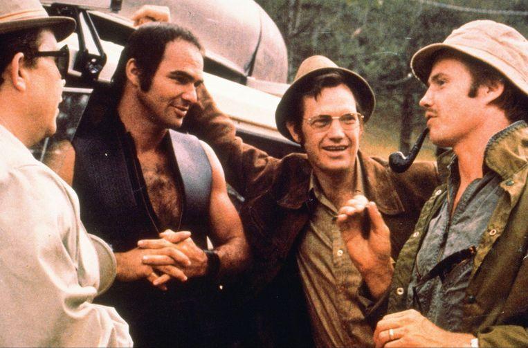 Reynolds op de set van Deliverance, in 1972.