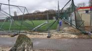 Voetbalveld hersteld na stormschade