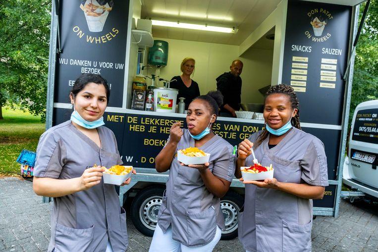 Het personeel van GZA Kinderopvang en woonzorgcentrum Sint-Camillus in Antwerpen was erg dankbaar dinsdagmiddag.