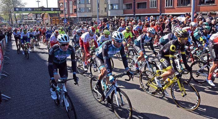De start in 2019 van de Scheldeprijs in Terneuzen.
