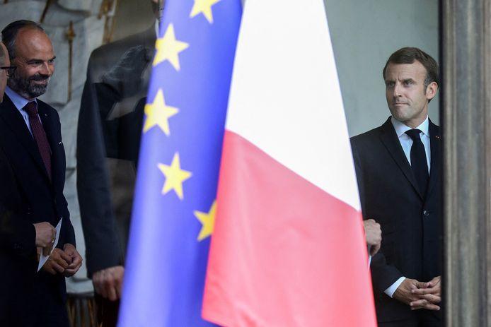 Édouard Philippe et Emmanuel Macron.
