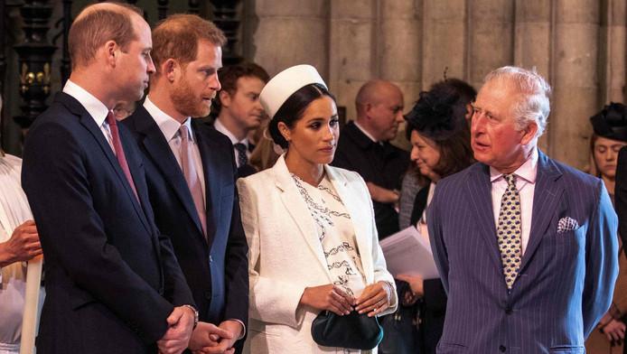 Le prince Charles, ses fils et Meghan Markle