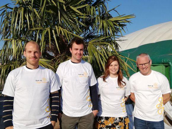 Initiatiefnemers Wim Verjans, Martijn Vanschoenwinkel, Katrien Peeters  en Thomas Gielen .