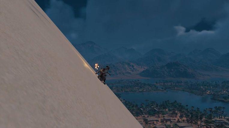 Van een piramide schuiven is supercool.