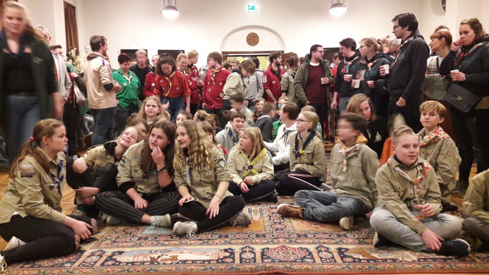 Massaal protest scouts in stadhuis Breda
